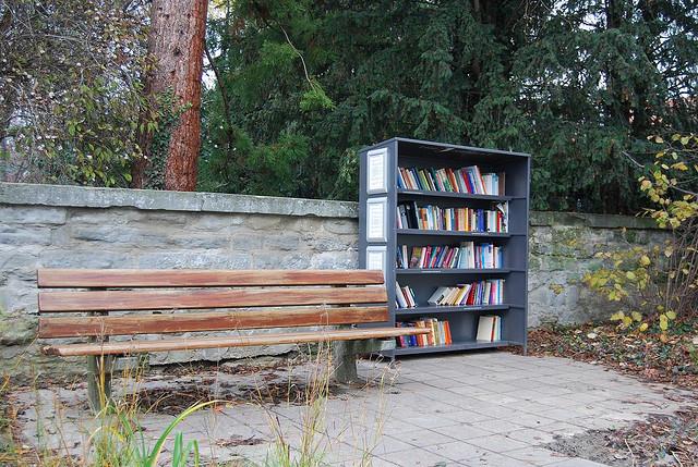 Mala čitaonica u parku nemačkog grada Überlingena.