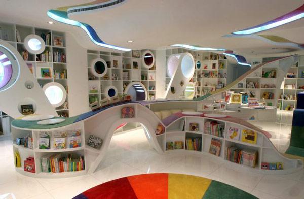 Poplar Kid's Republic, Beijing, China. Kako bilo koje dete, veliko ili malo, može da se odupre čitanju u ovoj knjižari?